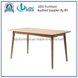 의자를 가진 현대 가정 가구 나무로 되는 테이블 식탁