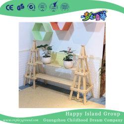 学校の無作法な固体木の植木鉢の棚(HG-4108)