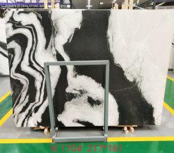 El chino Negro/Pulido Graybeige Bookmatch Panda de losas de piedra de mármol blanco para el piso interior/Azulejos encimera/Vanidad Top/escaleras