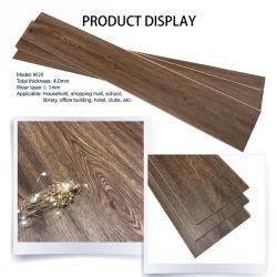 personalizado olhar madeira material PVC Intertravar o piso de bloqueio