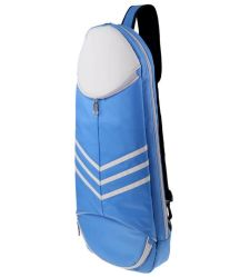 Tenis Raquetas de bádminton Cross-Body Back Pack bolsa azul