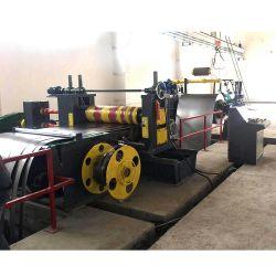Folha de metal da bobina de aço de corte longitudinal e rebobinagem de máquina de linha