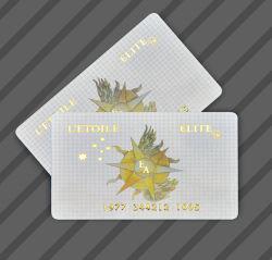 Cr80 Embosed Nbs personnalisée en plastique de l'or numéro de série d'encodage en PVC de la société Business Card