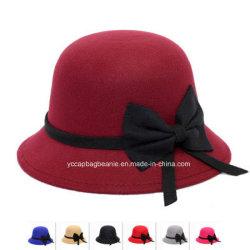 Sombrero de fieltro de lana de señoras la moda