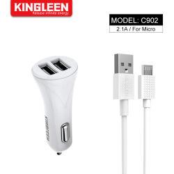 Voiture Dual 2 Port USB Mini adaptateur chargeur de voiture + câble Micro pour Huawei Samsung Galaxy Note Xiaomi
