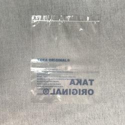 Embalagem de plástico fosco clara personalizados sacos biodegradáveis com o Logos