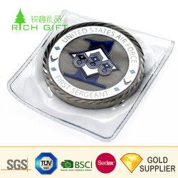 예쁜 장식 사용자 정의 금속 황동 에나멜 레진 방수 비트코인 기념물 봉투가 있는 동전