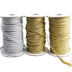 La banda del cóncavo Soutache colores metálicos cable cable trenzado Soutach poliéster