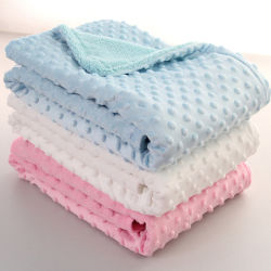 Esportazione della coperta comoda molle standard del bambino lavorata a maglia Minky del panno morbido