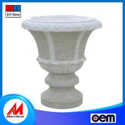 Fabriqué en Chine la décoration de jardin de sculpture sur pierre Pot de fleur de granit