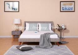 Letto di tessuto di modo semplice letto quadrato di pelle di cuoio di letto di arredamento