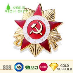 """Высокое качество пользовательских металлического сплава цинка Корпус позолоченный звезда"""" немецкого военного флота логотип с"""