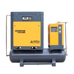 De hete Verkopende Industriële Gecombineerde Dubbele Compressor van de Lucht van de Schroef met Tank en Droger en Filters