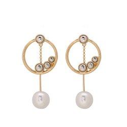 بيع بالجملة النساء OEM عرض أزياء هدية بيندانت اورينجز مجوهرات تاسل قطرة السحر الذهب النحاس اللؤلؤ الزر المحار