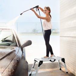 Plataforma de Trabalho de alumínio gesso acartonado intensificar a dobragem da bancada de trabalho|Portable Tamborete escada com tapete Non-Slip e pega lateral