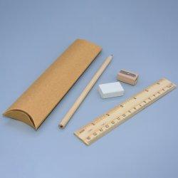 소나무 통치자 또는 가는 기구 또는 지우개 및 1 PCS 자연적인 Hb 연필 학교 문구용품은 종이상자에서 놓았다