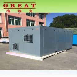 에너지 절약 무언 고용량 315kw 420HP 7bar 8bar 10bar 13bar는 몬 AC 전기 산업 기름 보다 적게 큰 쌍둥이 회전하는 나사 공기 압축기를 지시한다