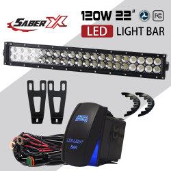 22 pouces de lumière LED droites Bar & Supports de fixation de bouclier pour Dodge Ram 2003-2014