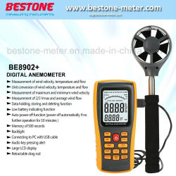 Luft-Fluss-Anemometer-Digital-Anemometer Be8902+