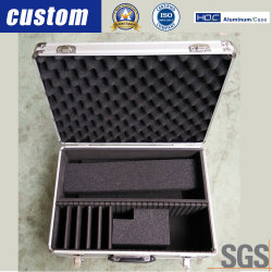 El almacenamiento de herramientas de aluminio personalizado Vuelos personalizado con forro interior para DVD CD la guitarra