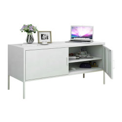 Salon moderne meubles en métal meuble TV avec pieds de haut Stand