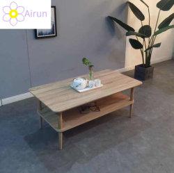 Estilo japonês casa sala de estar luxuoso mobiliário folheado de MDF mesa de café