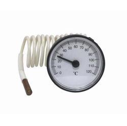 O medidor de temperatura do termómetro capilar da caldeira com sonda