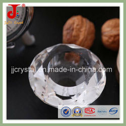ホーム使用(JD-CH-002)のためのより安く明確なダイヤモンドの茶ライト蝋燭ホールダー