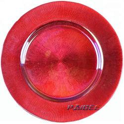 Copo Rose Raios de ouro a placa do carregador decoração da mesa de Placas do Visor de Vidro