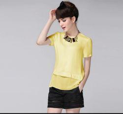 Groothandel Fashion Dames Tops Korte Sleeve Chiffon Women Blouse