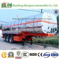 Petróleo/Leite/transporte de químicos 3 eixos de liga de alumínio semi reboque-cisterna