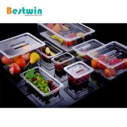 PC de plástico policarbonato Gn Container Gastronorm Pan Pan alimentar