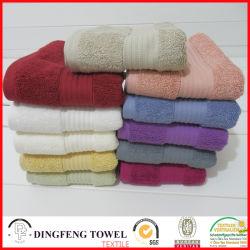 2016 Vendas quente 100% algodão orgânico de espessura mecanismos Jacquard Toalha de banho com fronteira acetinado DF-S366