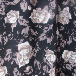 30s imprimante Tissu de rayonne avec rose fleur pour les femmes de l'habillement