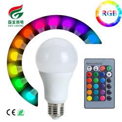 E27 B22 3W 5W 10W RGB+W多色刷りLEDランプライト16,000,000のカラー変更の球根+リモート・コントロールLED RGBの球根