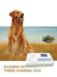 컬러 스크린 베트 수의학의 고품질 디지털 3 채널 동물 원통끝 ECG 기계 심전도 그래프