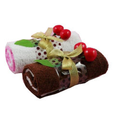 Publicidade Swiss roll projetado toalha bolo
