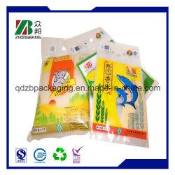Accepter l'ordre personnalisé des sacs de riz de la conception de l'impression