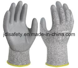 Trabajo de Seguridad Industrial contra la abrasión de protección de la mano Laborr Anti-Cut guante de trabajo con revestimiento de PU (PD8045)