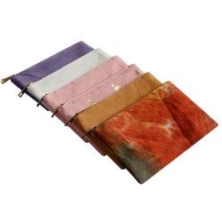 Eco Friendly Reycled RPET Toile sac de l'organiseur de petites brosses de maquillage femmes Cosmetic Toiletry voyage pochette à fermeture à glissière de stockage