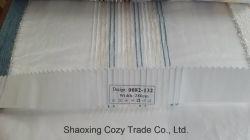 Novo Projeto Popular Stripe Organza Voile puro tecido Cortina 0082132