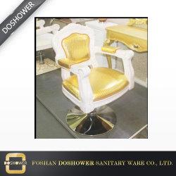 Schönheits-hydraulisches Goldhölzerner anredender Stuhl für Verkauf
