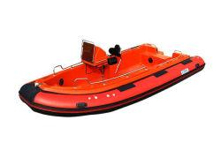 10人の人々のための赤いカラーHaypalonのガラス繊維の外皮の堅く膨脹可能なボート