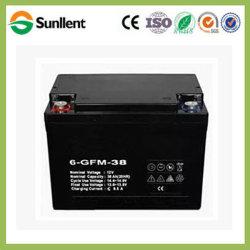 12V38Ah batería AGM libre de mantenimiento para vehículos eléctricos de iluminación de UPS aplicaciones solares