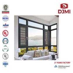 Janelas metálicas de uta Janela de vidro triplo Turquia UPVC para Porta e janela
