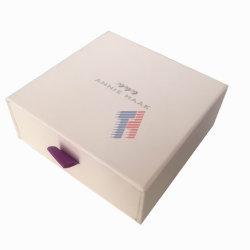 ورق فاخر درج نيس مربع انزلاق الشريط بولر هدية علبة لقوس العقد