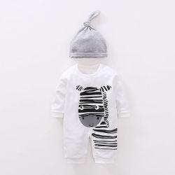 Venda por grosso de vestuário para bebé Rompers Bebé 100% algodão Manga Longa