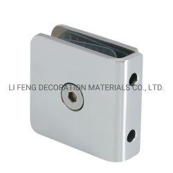 Acier inoxydable de 0° Square clip fixe de porte en verre/porte de la salle de douche commune d'angle de partition