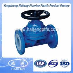 Válvula de esfera alinhada do Teflon PTFE PFA FEP para a indústria química