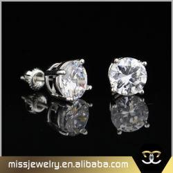 Or blanc pierre unique Zirconia Cubique Stud Earrings Mjce040